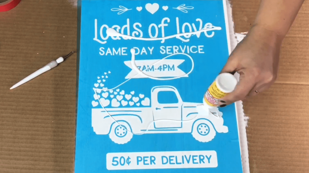 Use Mod podge as a sealer when making signs with Oramask 813 stencil vinyl