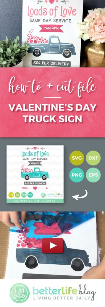 Cute Valentine's Day Sign Tutorial using chalk paint and Oramask 813 Stencil Vinyl - This blog has tons of Silhouette Cameo and Cricut tutorials, Free SVG Files and more fun projects and ideas.
