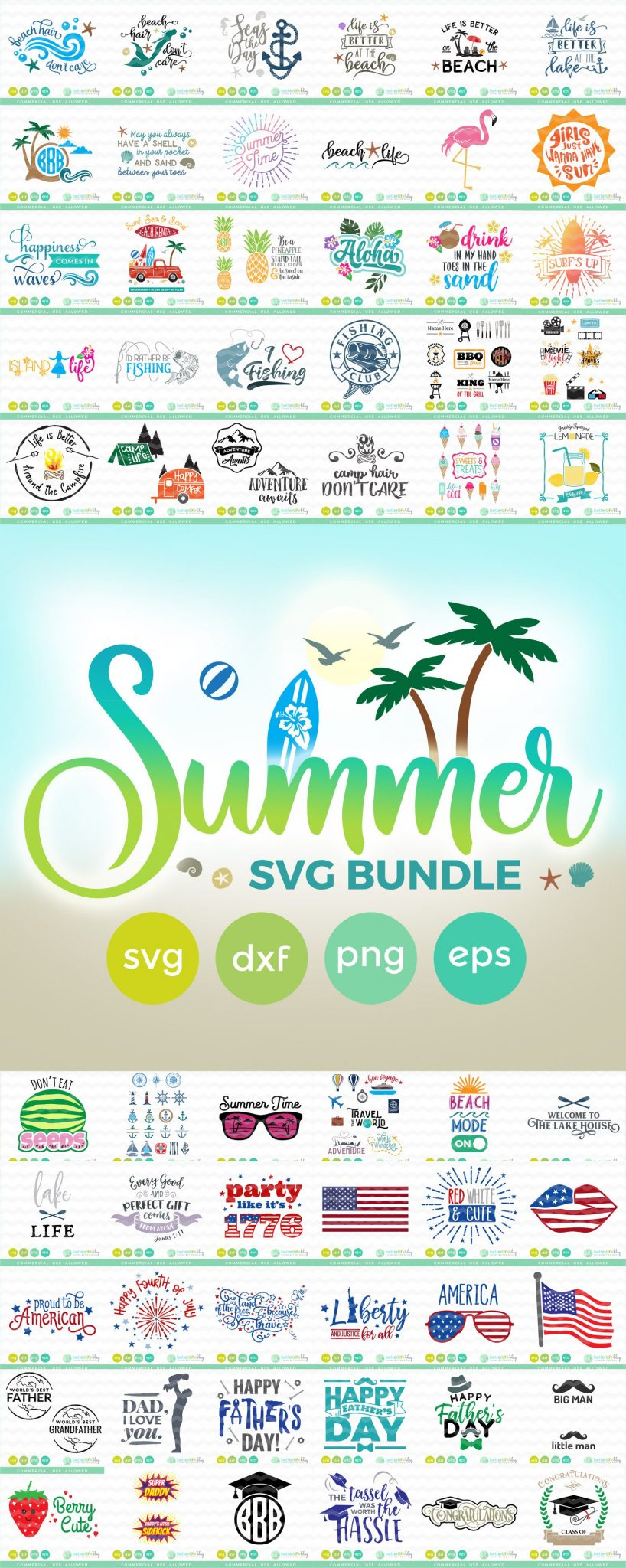 Summer Svg Bundle For Cricut And Silhouette Crafting Better Life Blog