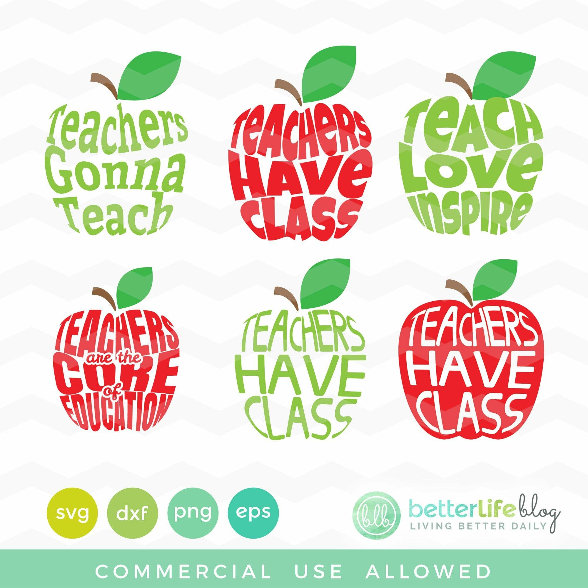 Teachers Svg Bundle Better Life Blog