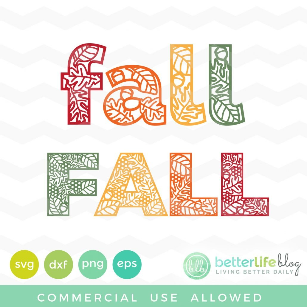 Fall Decorative Letters SVG