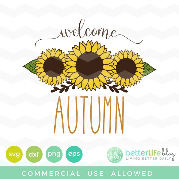 Sunflowers Autumn SVG