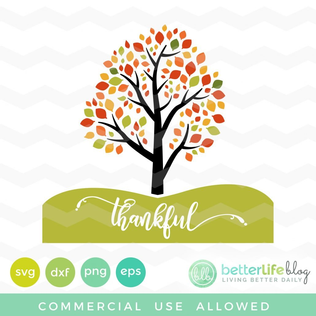 Thankful Fall Tree SVG
