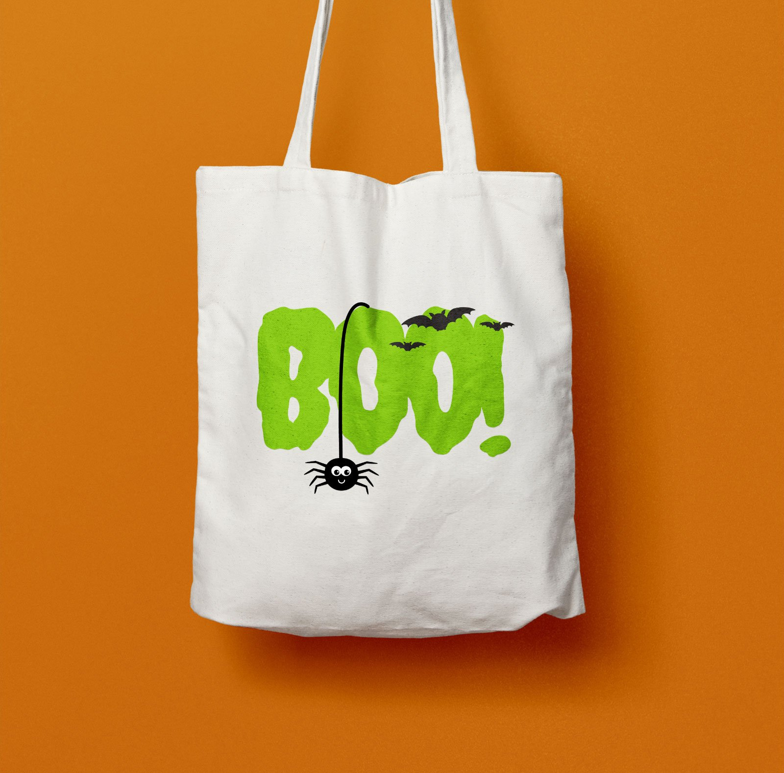 Halloween Canvas Trick-or-Treat Bags with Heat Transfer