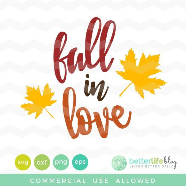 Fall in Love SVG