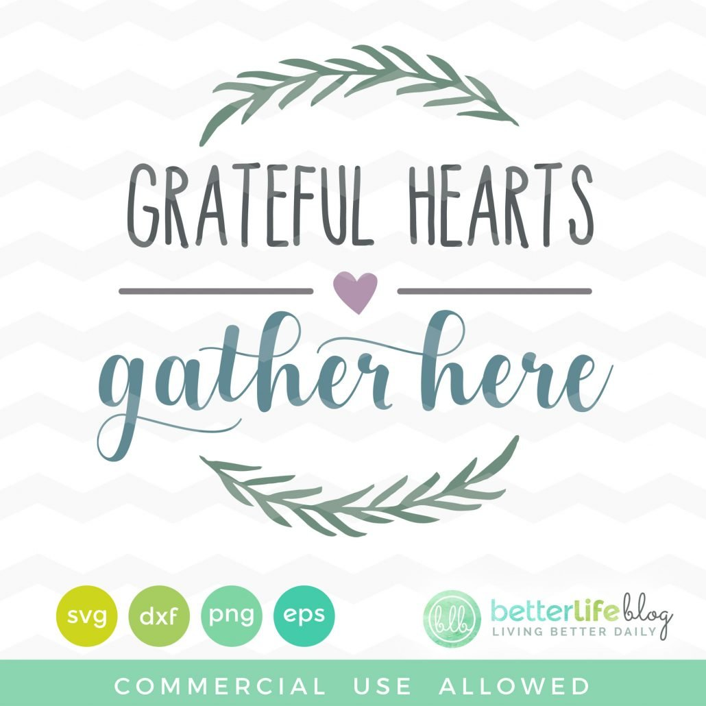 Grateful Hearts SVG