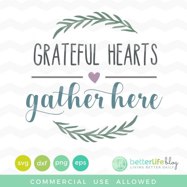Grateful Hearts SVG