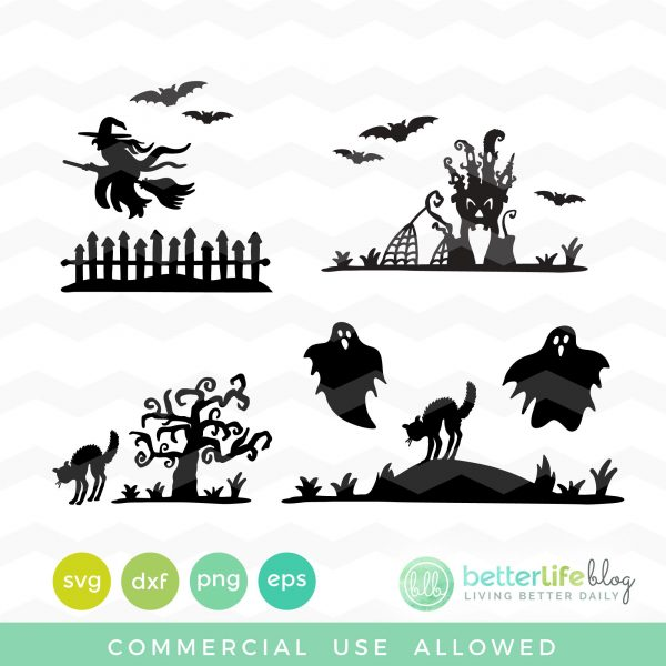Spooky Silhouettes SVG