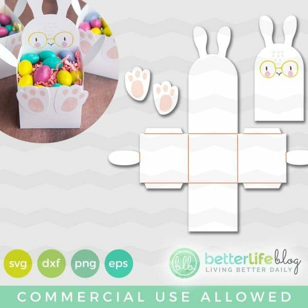Cricut Easter Bunny Print Then Cut Treat Box Free Svg Cut File Better Life Blog