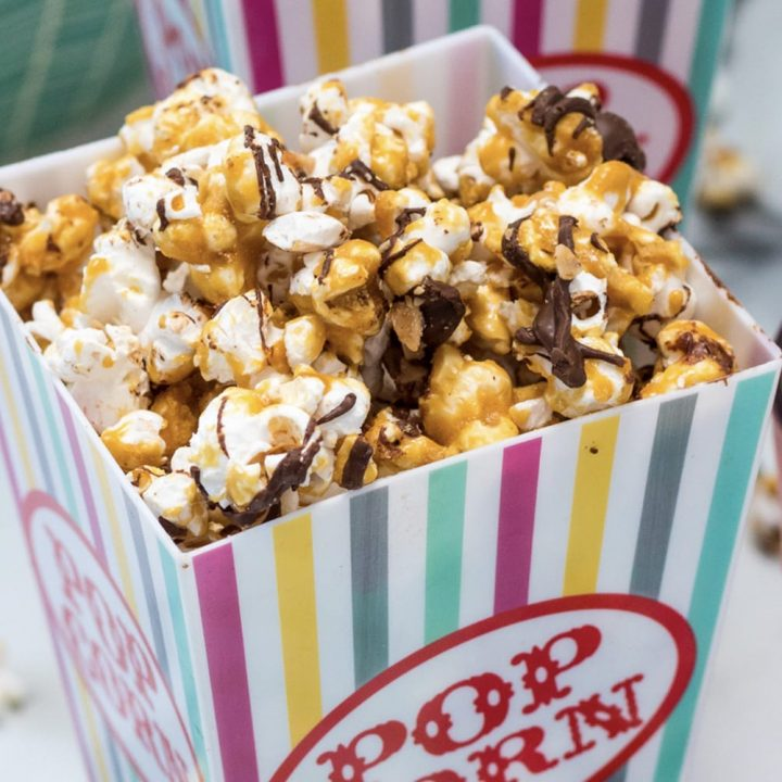 Chocolate Toffee Popcorn