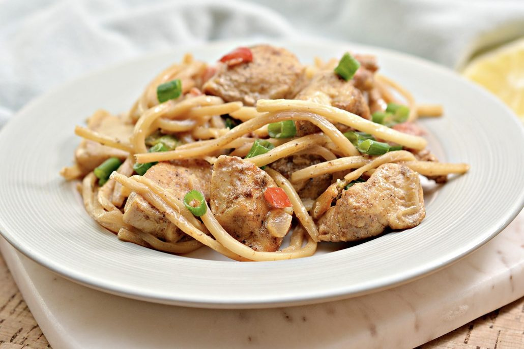 """This Chicken dish with Palmini noodles will give you that """"pasta"""" fix if you're on a Keto/low-carb diet. Absolutely delicious!"""