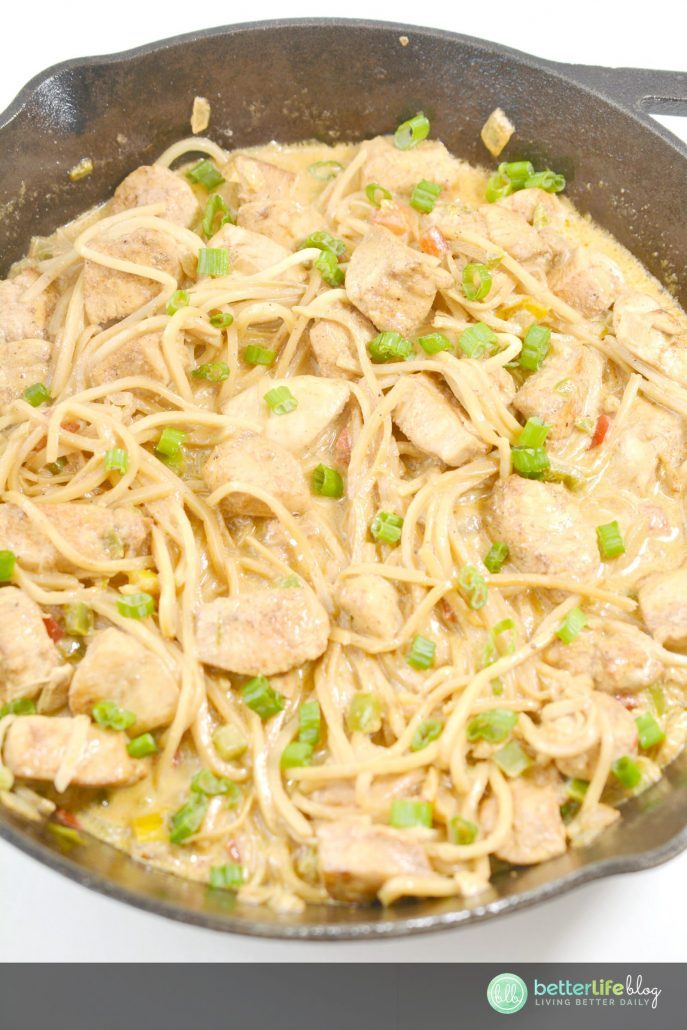 "This Chicken dish with Palmini noodles will give you that ""pasta"" fix if you're on a Keto/low-carb diet. Absolutely delicious!"