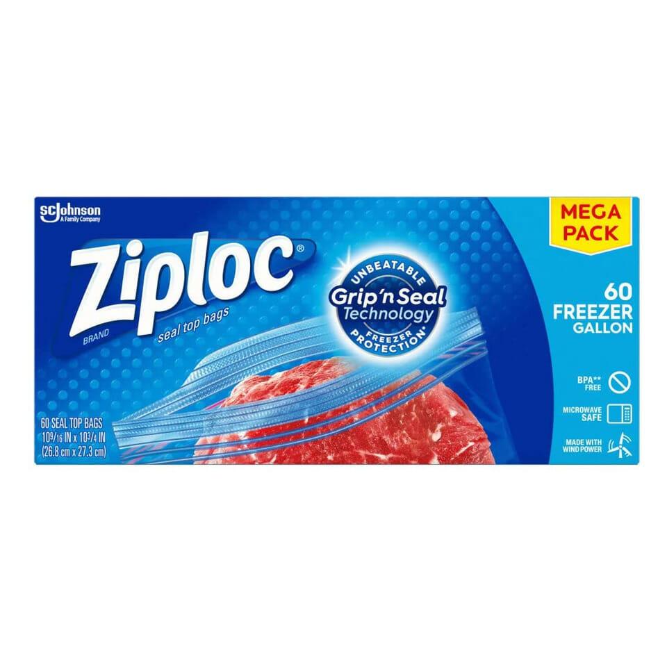 Gallon Size Ziplock Bags