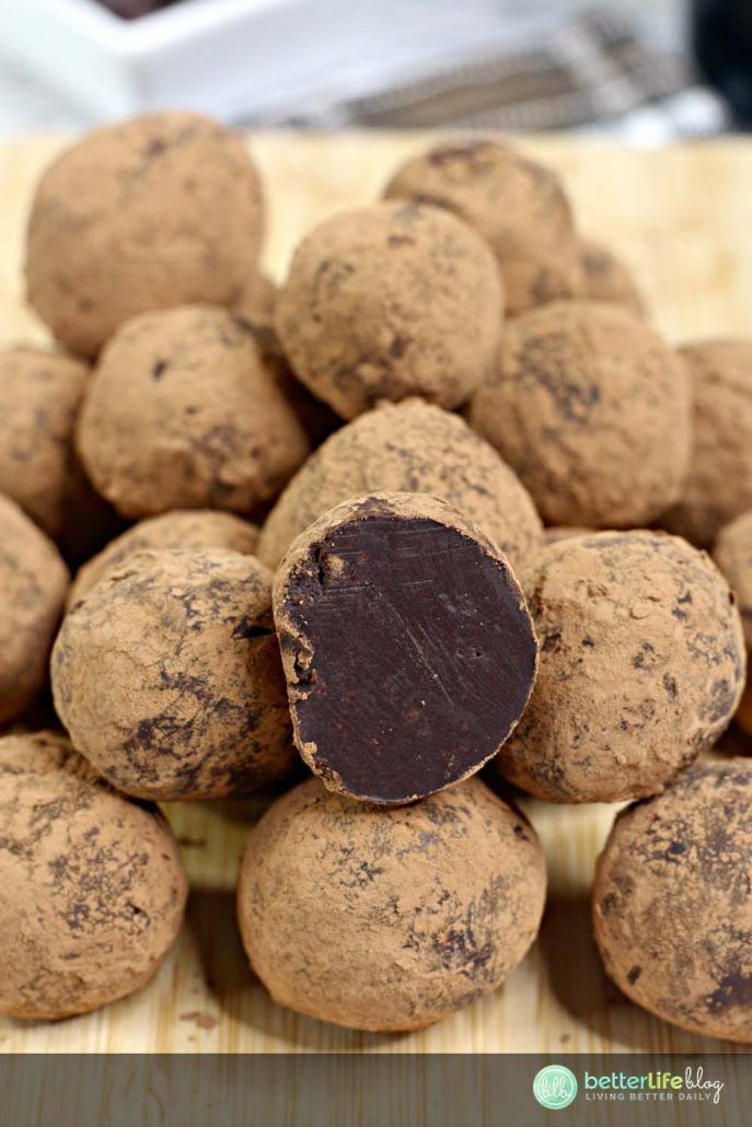 "These Bailey's Irish Cream truffles are made of a homemade ganache, infused with the deliciousness of Bailey's Irish Cream. Super easy to whip-up, these make the perfect ""grown-ups only"" treats."