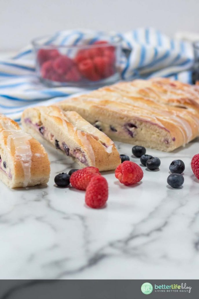 This Fresh Berry Cheese Danish is full of flavor with every bite. Filled with a generous amount of cream cheese and berries, your family will be impressed that you whipped it up yourself.