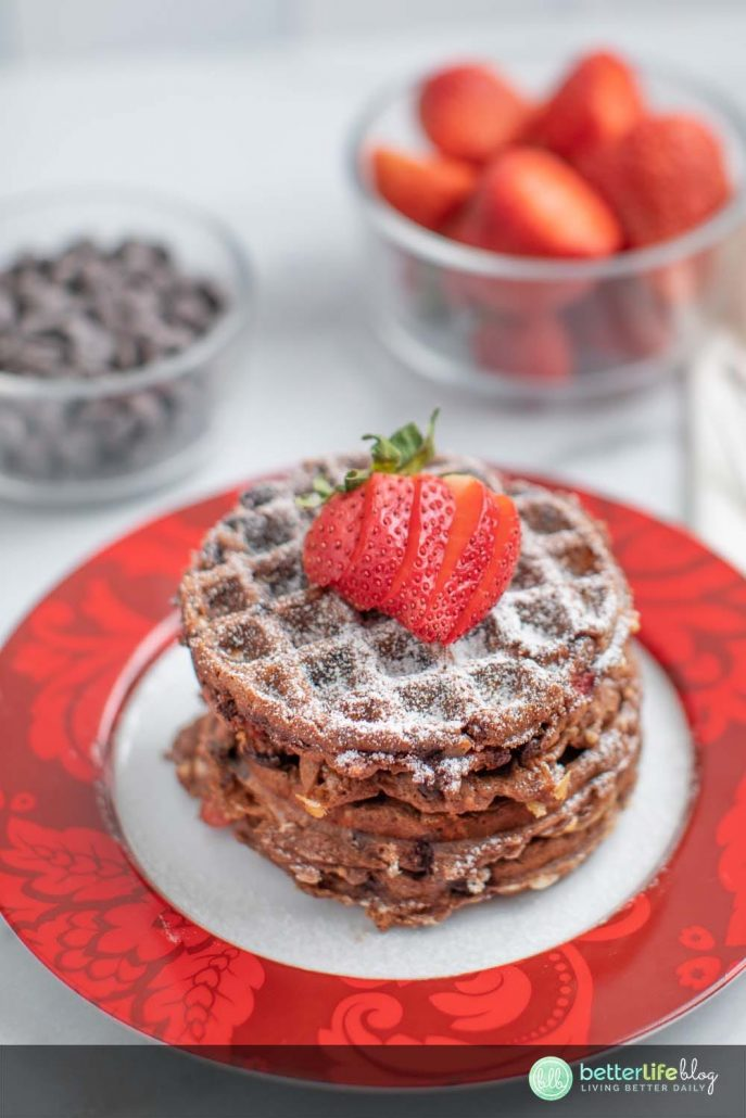 These Keto Strawberry Chocolate Chaffles are the perfect breakfast solution for your sweet tooth. Who says that being on a Keto diet means you have to forgo any sweetness?