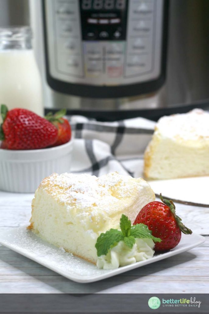 Giving you easy, step-by-step instructions on how to make your very own Instant Pot Angel Food Cake. With a few simple steps (and very few ingredients!), you can have your own light, airy and easy-to-make Angel Food Cake.