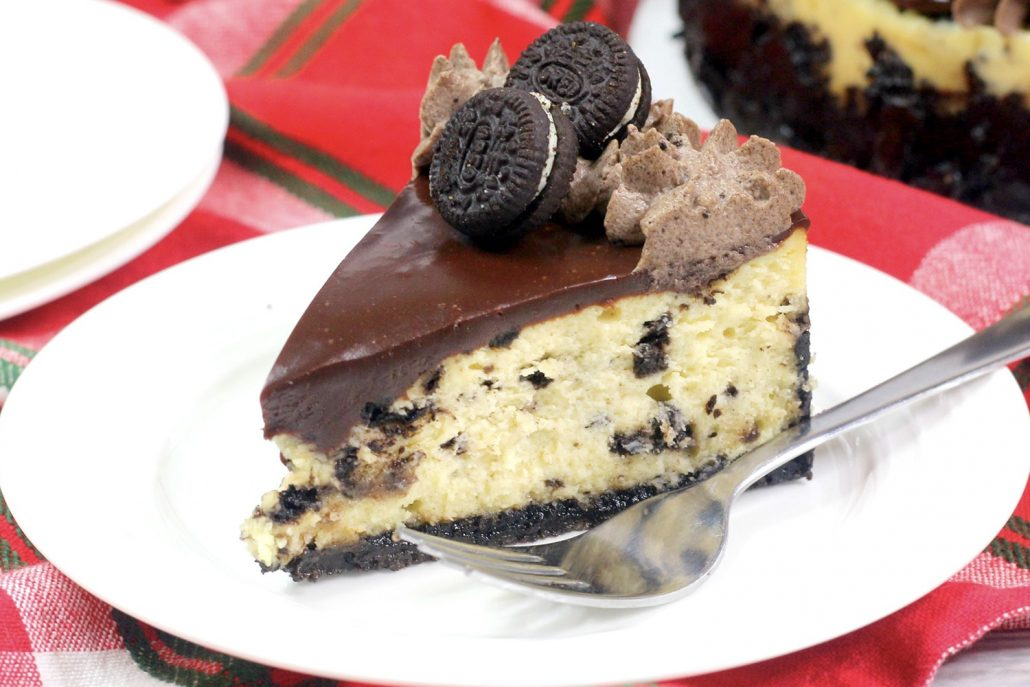 This Instant Pot Oreo Cheesecake is thick, creamy and full of Oreo flavor. For any Oreo fan, this cheesecake is perfect: it's got chunks of Oreo cookie, sits on a homemade Oreo crust and boasts an Oreo-infused whipped cream. What more could you ask for?!