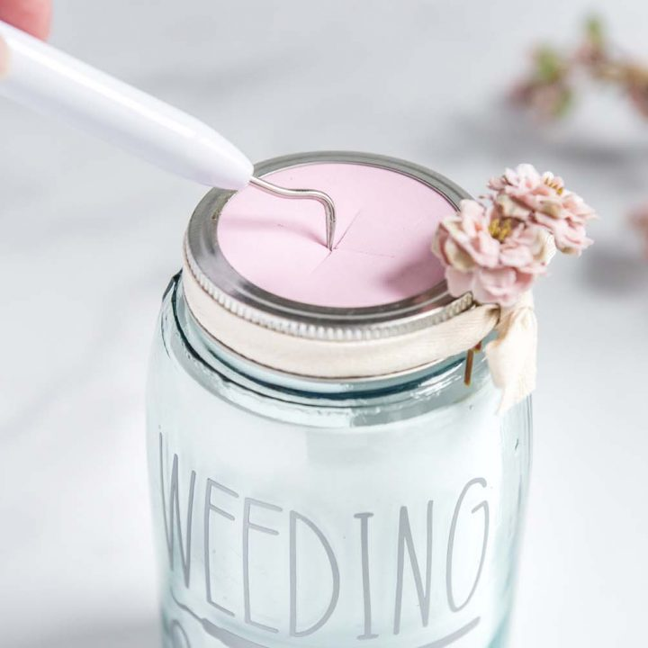 DIY Weeding Scraps Mason Jar for Cricut
