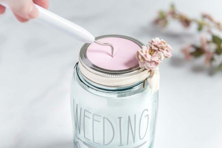 Diy Weeding Scraps Mason Jar With Craft Foam Free Svg Cut File And Cricut Tutorial Better Life Blog
