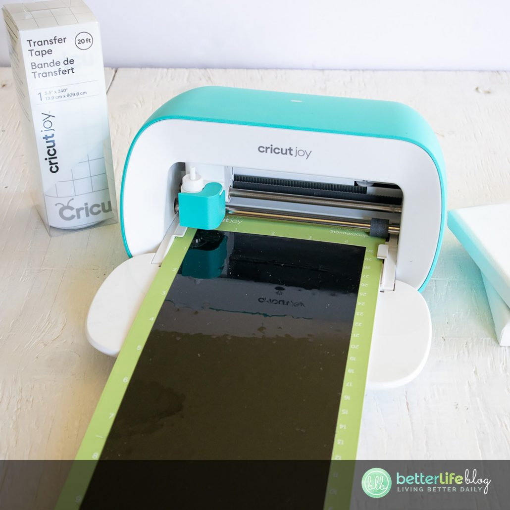 Make your first Cricut Joy project with this ultra easy (and ultra cute) DIY! You can make your very own printed canvas with the nifty Cricut Joy machine.