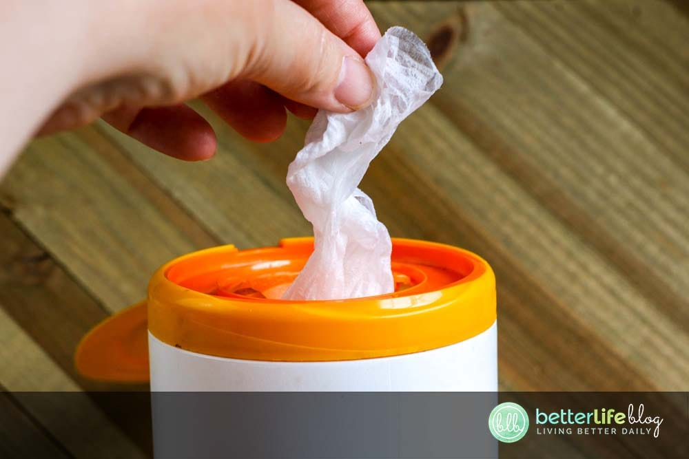 My easy-to-make DIY Disinfecting Wipes are key to keep in your home. They help get rid of unwanted bacteria off of your home's most used surfaces, keeping things squeaky clean for you and your family.