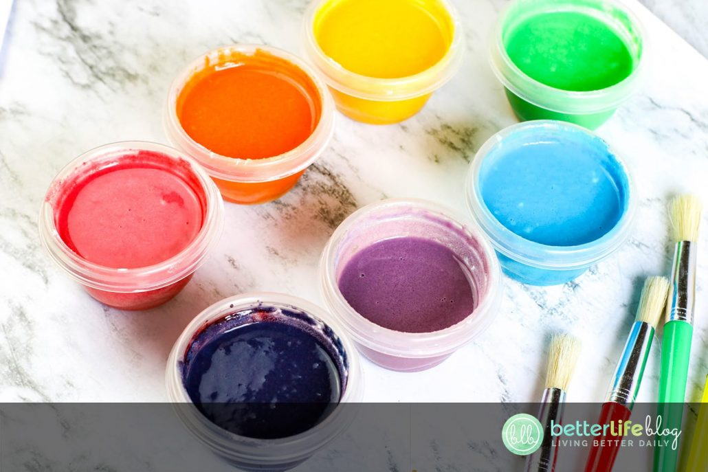 Never buy paint again! This DIY Paint only takes 4 ingredients to make. You'll love it because it's 100% safe for your kids to use. Your little ones will love it for its vibrant colors and because it's so fun to use!