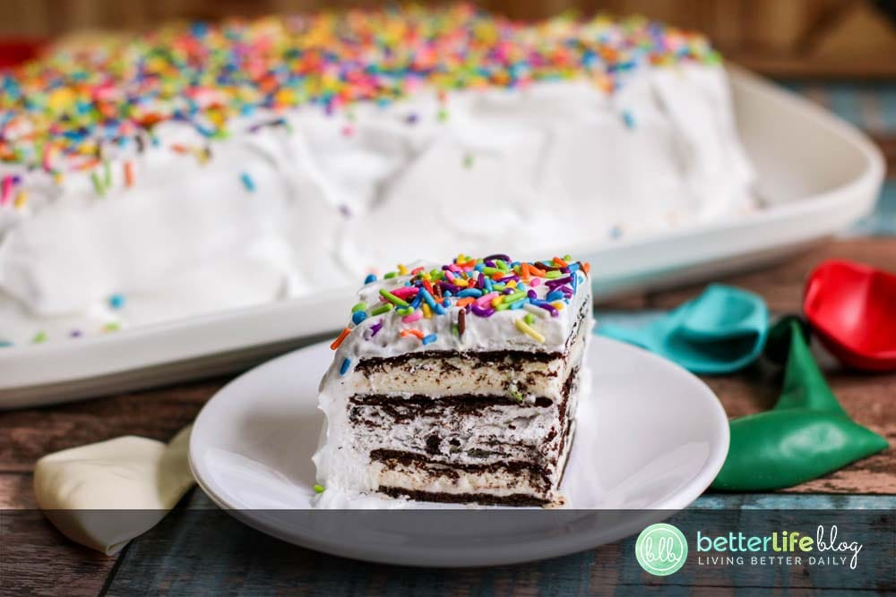 Got a summer party to plan? Be sure to make this Ice Cream Sandwich Cake because your guests will absolutely adore it! From the Oreo crumbs to the double layers of ice cream sandwiches - this recipe puts a fun twist to a classic treat!