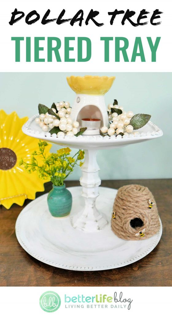 This DIY is one for the books. I absolutely ADORE how my Dollar Tree Tiered Tray came out… and yes, you know it: it's made with items purchased from the Dollar Tree. Believe it! Something this elegant coming from the Dollar Tree?! Yup, it's possible! I'll show you how you can make your very own.