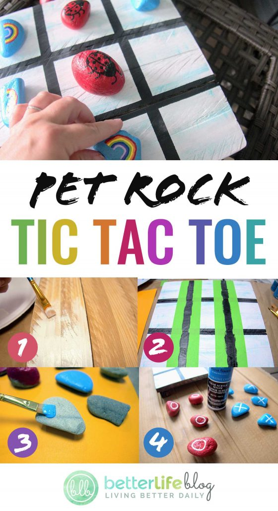 Looking for your next wooden palette project? Why not make this Pet Rock Tic Tac Toe game? It's absolutely brilliant! All you need is some paint and a little elbow grease… your kiddos will adore how colorful it is!