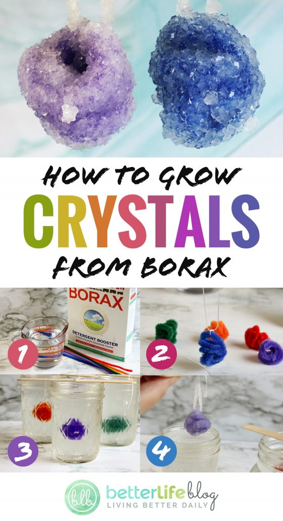 Showing you how to grow crystals: it's a fun, educational DIY that your kiddos will absolutely adore! Follow my easy steps to grow your own homemade crystals. Awesome!
