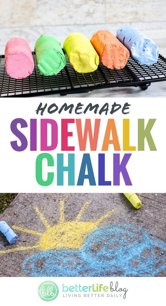 All it takes is 3 ingredients to make your very own DIY Sidewalk Chalk. It's really easy and your kiddos will absolutely love this project!