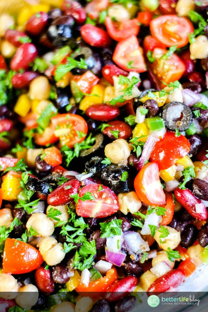 This Rainbow Bean Summer Salad is quick and easy to make. It makes for the perfect side, especially on a hot summer day. It's absolutely refreshing and has tons of flavor to it.