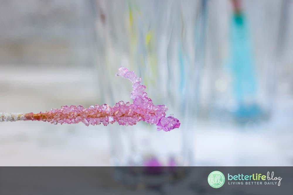 Want something fun and educational to do with your curious kiddos? Homemade Rock Candy is easy to make and doubles as a fun science experiment AND an edible sweet treat!