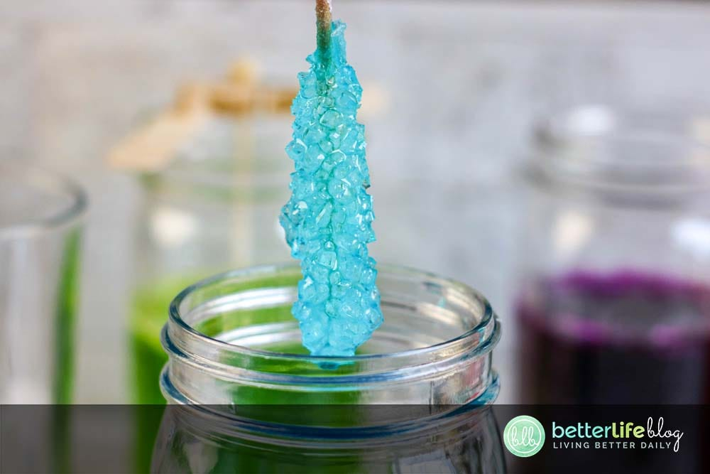 My Homemade Rock Candy is easy to make and doubles as a fun science experiment for your kiddos. Plus, they're absolutely delicious and boast bright, beautiful colors.