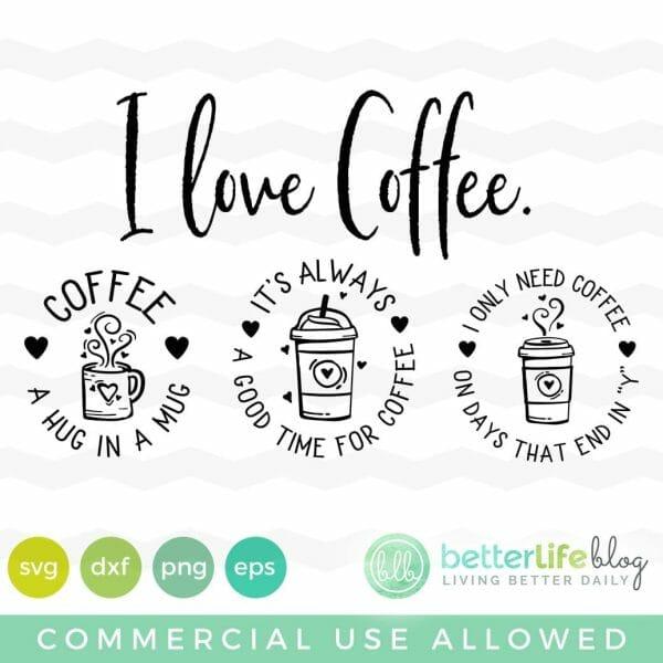 Coffee Lover Badges SVG
