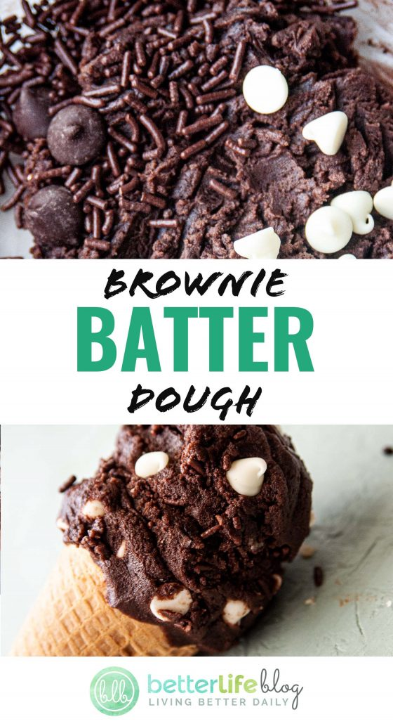 My Brownie Batter Dough recipe is one for the books! It's sweet, smooth and totally safe to snack on. Batter dough lovers, unite!