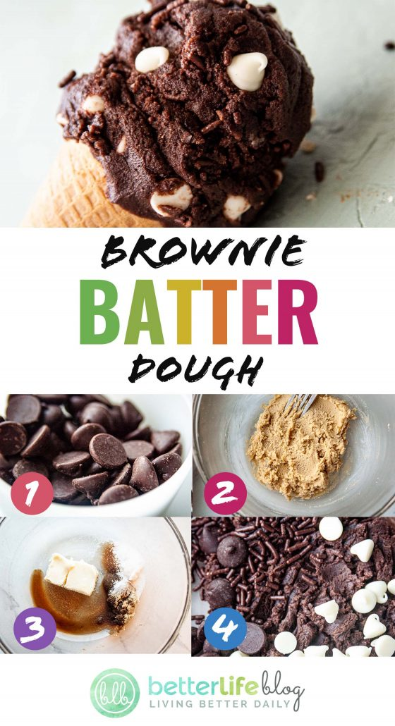 Today, I'm happy to present my Brownie Batter Dough - an uncooked dough that's totally safe to snack on. It's sweet, smooth and everything you would imagine for a delicious treat.