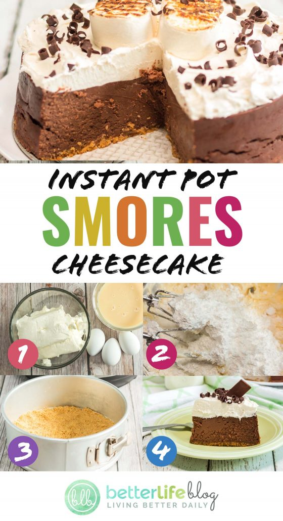 This Instant Pot Smores Cheesecake is a delicious sweet treat that will take you back to childhood days around the campfire. Plus, it's made in the Instant Pot and is super easy to whip up!