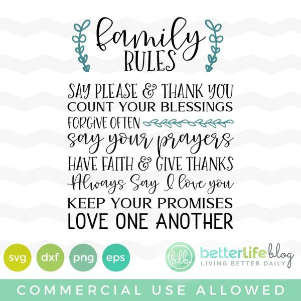 Family Rules SVG