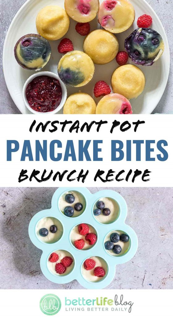 You'll hardly be able to resist my Instant Pot Pancake Bites Brunch Recipe - you'll want to pop one in your mouth every few minutes! They're best served warm with tons of delicious toppings like Nutella, fruit, honey and maple syrup.