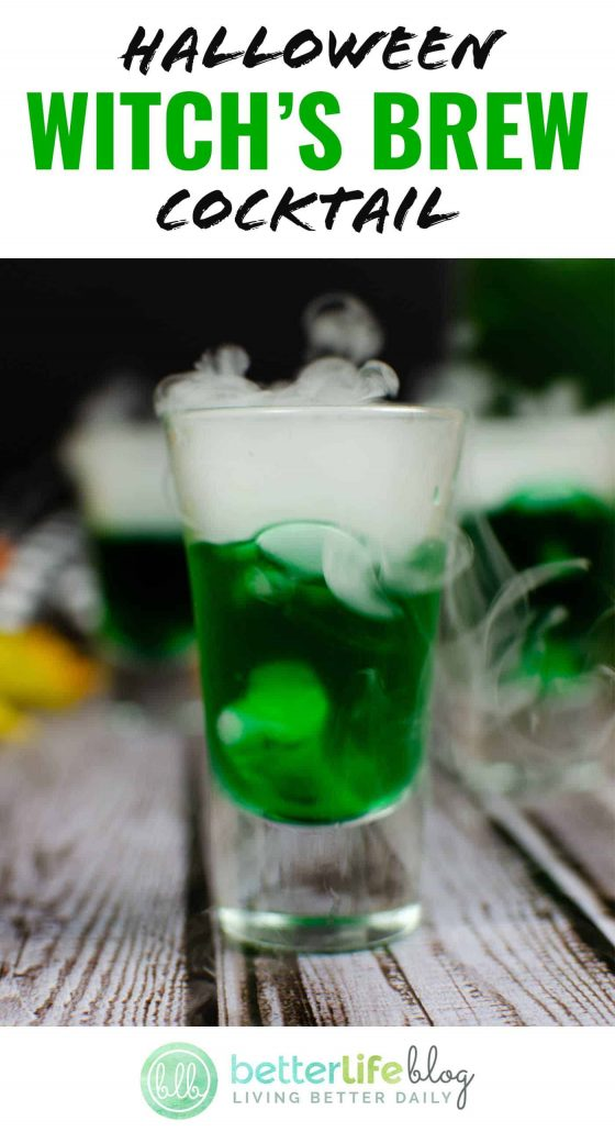 This Halloween Witch's Brew Cocktail is infused with matcha, cream soda and vodka. It's then topped with dry ice to give it an extra creepy look. It is absolutely perfect for October 31st!