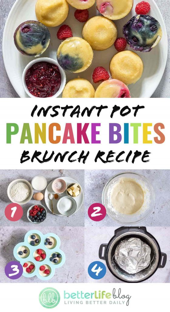 Instant Pot Pancake Bites - impress your guests with this delicious brunch recipe! They're adorable and highly addictive. You'll want to pop one of these delights in your mouth every few minutes.
