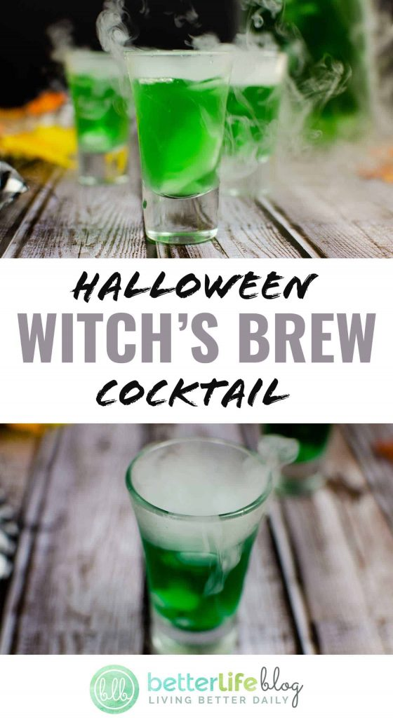 Happy Halloween! Keep your guests impressed with your Halloween-themed party foods with this adult Witch's Brew beverage. It's bright green and smoky… perfect for your October 31st celebrations!