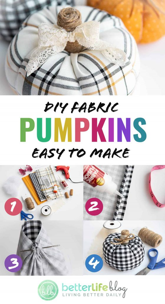 Learn how to make these easy DIY Fabric Pumpkins - perfect for your fall décor and mantle! They're adorable, plump, and you can choose any fabric pattern/color to create your own style.