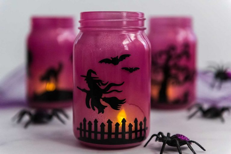 My Cricut Luminaries provide a perfect glow. Its colored glass and Cricut-made design give it the perfect feel for October 31st. Learn how to make it with our easy-to-follow step-by-step instructions.