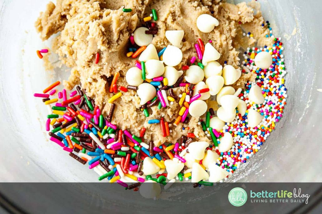 What's the most tempting part to baking cookies? Not eating all of the cookie dough, of course! my Funfetti Cookie Dough recipe is completely safe to munch on AND it's absolutely delicious!