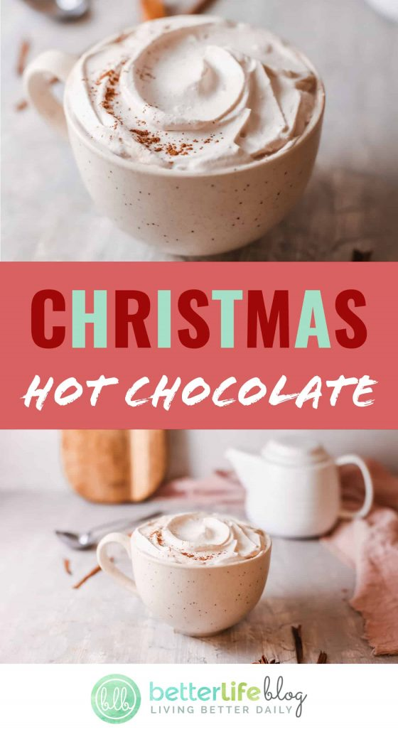 Hot chocolate is the epitome of the holiday season. My homemade Christmas Hot Chocolate is smooth, sweet and filled with tons of flavor.