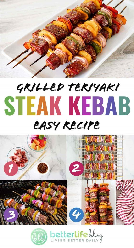 Who loves to BBQ? Well, if you do, then you just HAVE to try out my Grilled Teriyaki Steak Kebabs. The meat is marinated to perfection in a homemade teriyaki sauce - offering so much flavor in every bite.