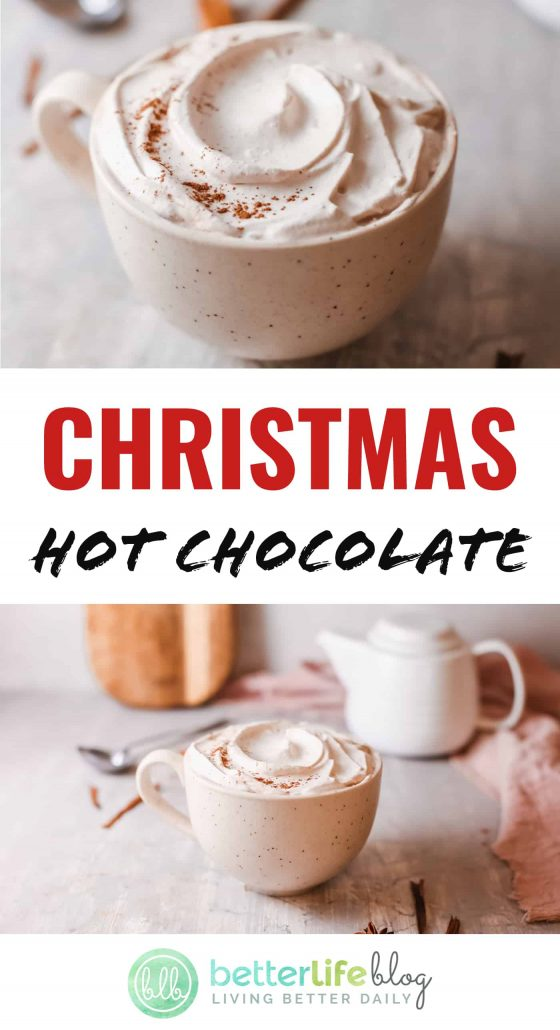In this recipe, cinnamon, ginger, allspice, nutmeg and cardamom come together to form a mouthwatering beverage. My Christmas Hot Chocolate is out of this world, and is the perfect way to ring in the holidays!